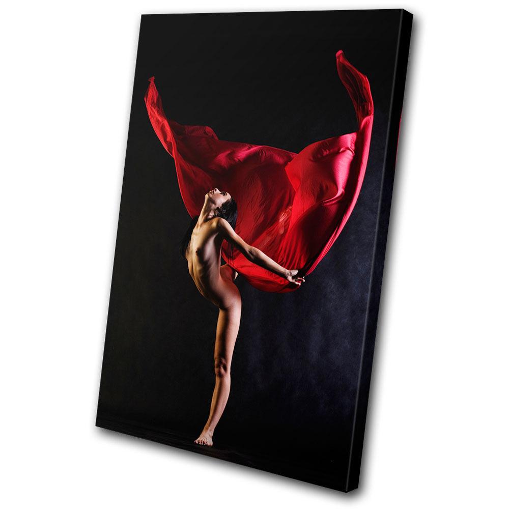 Erossoic Nude Sexy Dancer SINGLE TELA parete arte foto stampa