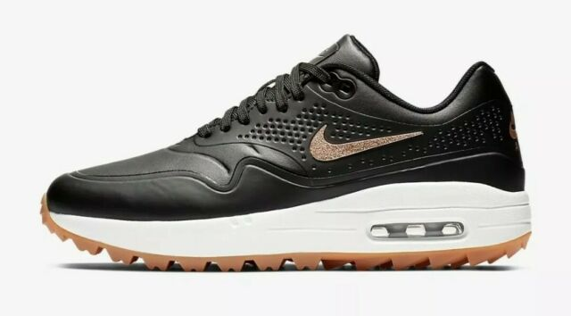 Nike Air Max 1 Womens 7 Golf Shoes Spikeless Black Gum Bronze ...
