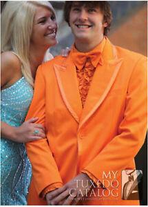 Image Is Loading Orange Groomsmen Tuxedos Formal Best Man 2 Piece