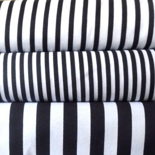 Black/&White Striped fabric 100/% Cotton 5 sizes Stripes fabric Ticking Fabric