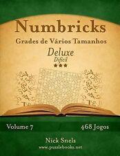 Numbricks Ser.: Numbricks Grades de Vários Tamanhos Deluxe - Difícil - Volume...