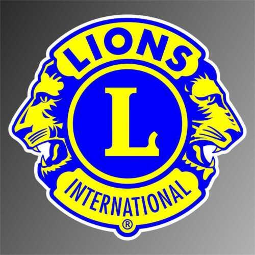 adesivo lions international giallo sticker decal aufkleber autocollant pegatina