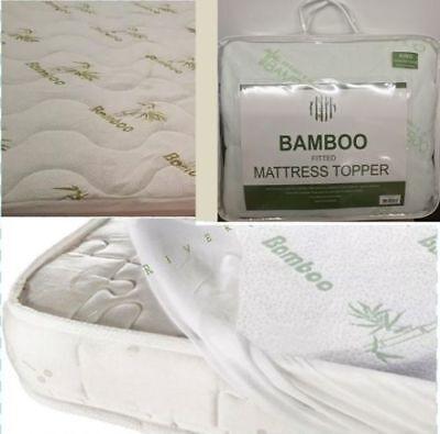 Apprensivo * Riduzione * Alta Qualità Montato In Bambù Memory Foam Cuscino Morbido Materasso Protettore- Modellazione Duratura