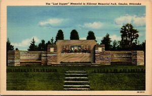 Vintage-Postcard-The-034-Last-Supper-034-Memorial-In-Hillcrest-Park-Omaha-Neb