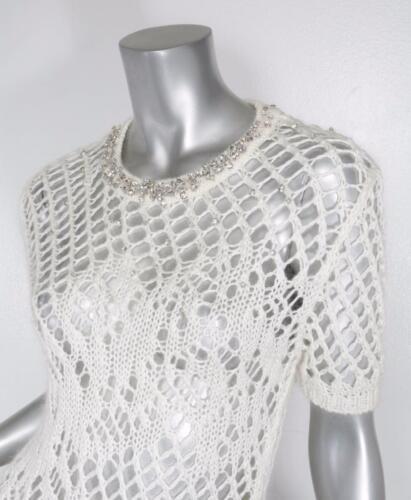 Avorio 2 Ermanno Maglione Scervino Crystal Manica 38 Womens embellished Corta EZOCq