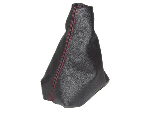 Gear Gaiter For Citroen C4 Cactus 2014-17 Leather Red Stitching
