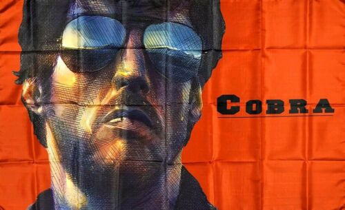 Cobra Sylvester Stallone Drapeau 3x5 FT rouge Bannière Années 1980 RAMBO ROCKY MAN-Cave