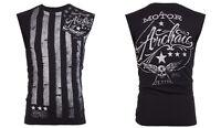 Archaic AFFLICTION Mens T-Shirt SLEEVELESS Fight Biker Gym MMA UFC S-3XL $40 s