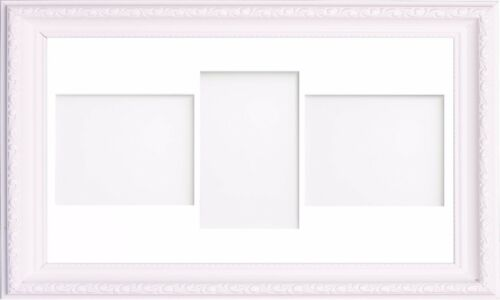 Multi Aperture Ornate Shabby Chic White College Photo Picture Frame With Mount