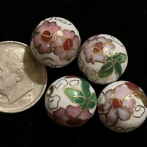 10pcs Oriental Chinese Pink Flower Porcelain Oval Beads 15x12mm G39