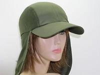 Mesh Hiking Hat Unisex Long Neck Flap Cap