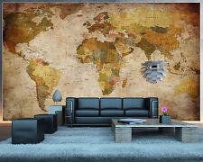 Vintage XXL Weltkarte alt Wanddekoration Poster Wohnzimmer Tapete Poster Deko