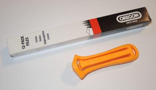 Oregon Feile Plastik Feilenhalter 12x Rundfeile  1/4  3/8 Picco Hobby 4,0 mm