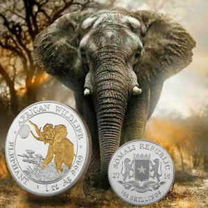 WR-Collectibles-Somali-100-Shillings-African-Wildlife-Elephant-Silver-Gold-Coin