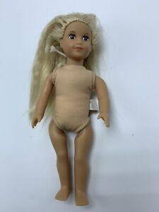 "American Girl Mini Doll 6"" Meet Julie ( no clothes)"