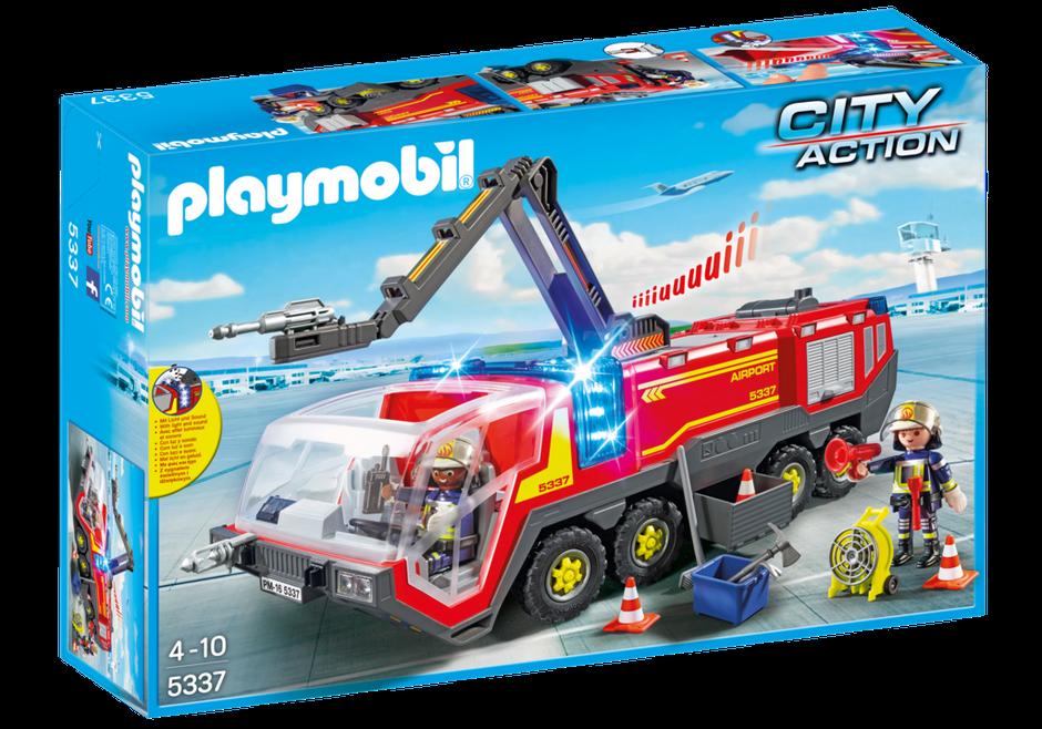 Playmobil 5337 Camion Pompier Aéroportuaire avec figurines