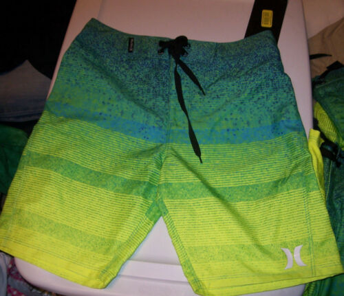 Details about  /NEW Hurley green yellow youth boys swim board shorts swimsuit 10 16 18