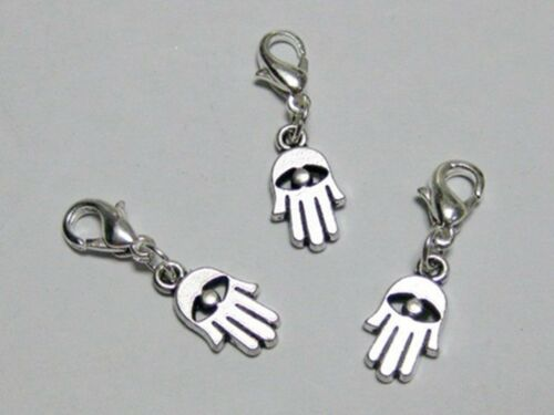 25 Hamsa Hand Evil Eye Clip On Charm Fit Chain Charm Bracelet