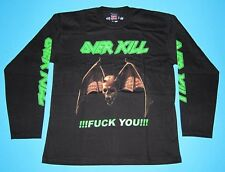 Overkill - Logo F*ck you T-shirt Long Sleeve Size L Over Kill Chaly