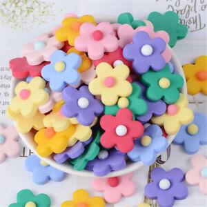 25mm-Matte-Resin-Five-Petals-Flowers-Cabochons-20-pcs-Jewellery-Accessories-DIY