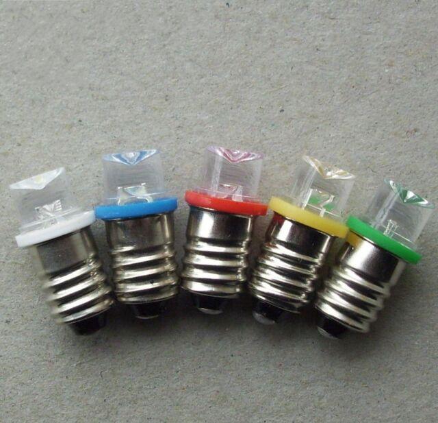 5pcs DC3V-24V E10 screw T10 concave led detect Singal light bulb crystal lamp