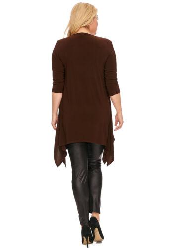 Magna Lagenlook LONG Shirt TUNIKA Kleid Zipfel A-Linie mocca