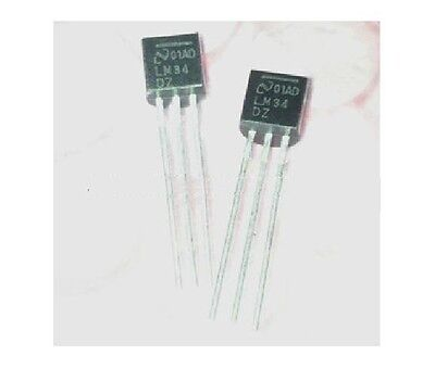 5pcs LM34DZ LM34 Precision Fahrenheit temp. sensors