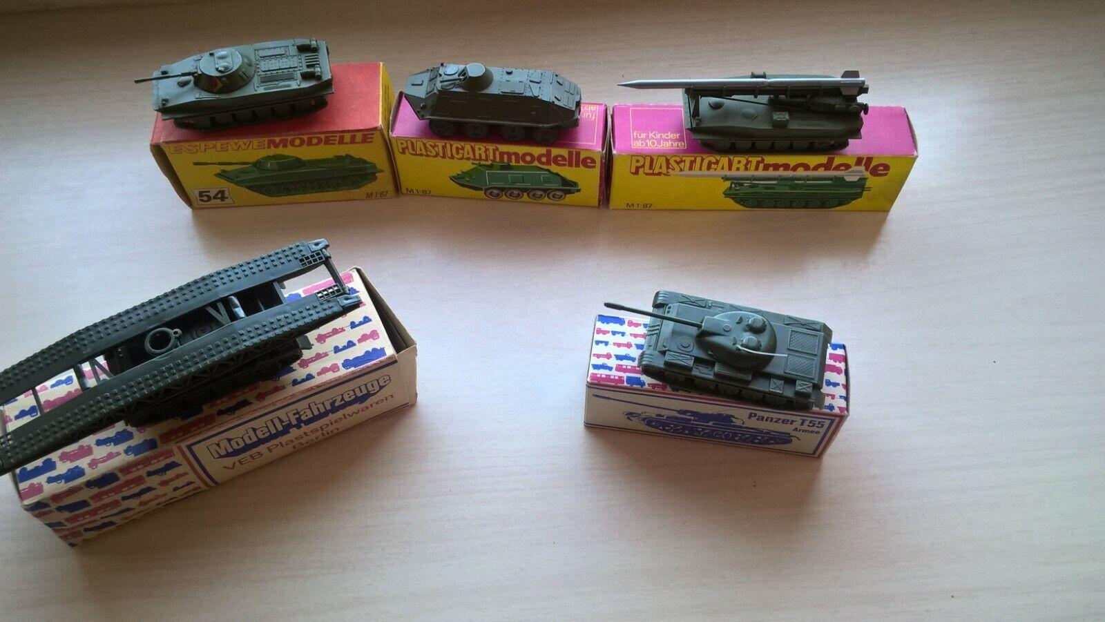 Spielzeug 1 87 Panzer TANK Kampwagen Raketen Modellen  Metall DDR UDSSR CCCP