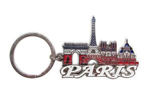 Porte-cles-Tour-Eiffel-Notre-Dame-de-Paris-sacree-Coeur-et-Arc-de-Triomphe
