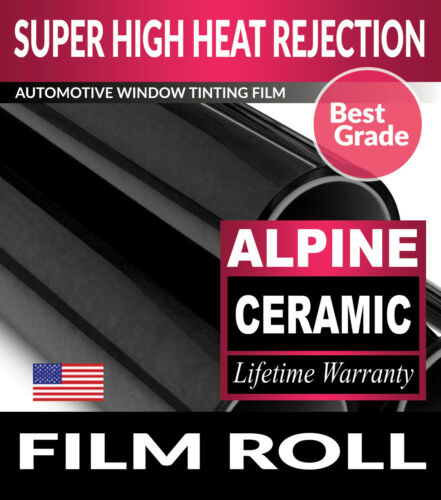 "FILMVANTAGE ALPINE 3/% VLT 12/"" x 78/"" WINDOW TINT ROLL 30.48cm x 198.12cm"