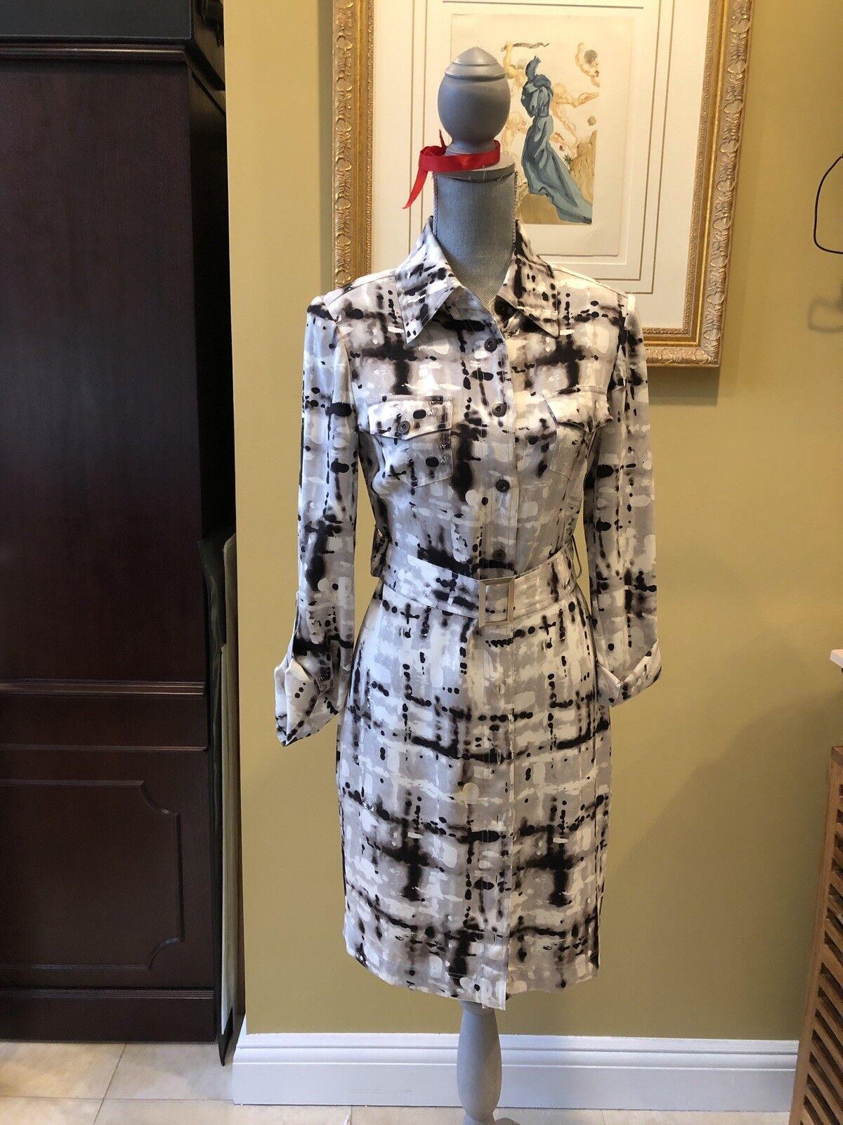 Gorgeous St. John Shirt Dress Sz 4, WOW