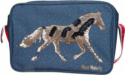 Depesche MISS MELODY HORSE Shoulder MESSENGER BAG Blue A4