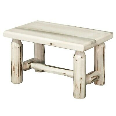 Terrific Log Foot Stools Rustic Wooden Bench Amish Made Small Wood Benches Lodge Cabin Ebay Squirreltailoven Fun Painted Chair Ideas Images Squirreltailovenorg