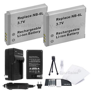 Charger for Canon PowerShot SD4000 SX500 SX260 SX270 3x NB-6L NB-6LH Battery