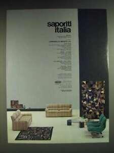 1985 Saporiti Italia Furniture with Missoni Fabric Ad - Saporiti Italia