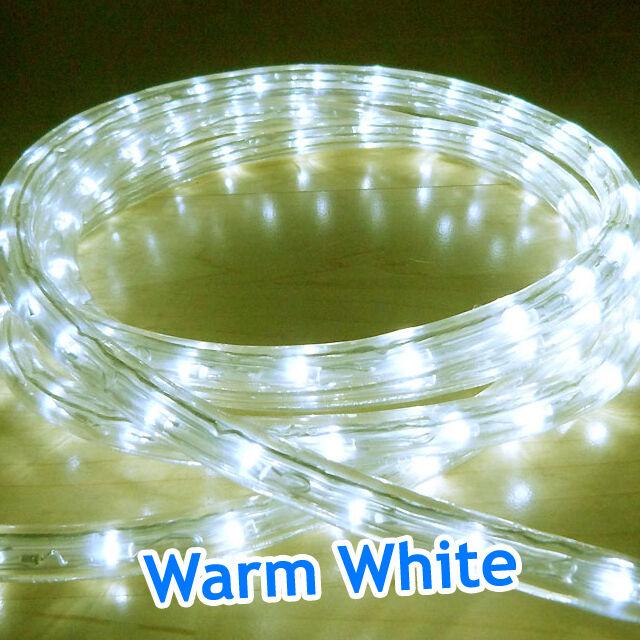 Corde led extérieur lumières Chasing statique Xmas Noël éclairage jardin maison maison jardin UK ea511c
