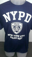 Nypd York Police Blue White Print Dry Fit T Shirts With Wicking Tech