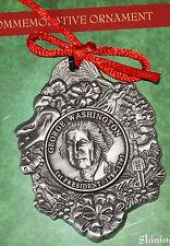 US American Independence Revolution George Washington Commemorative Ornament