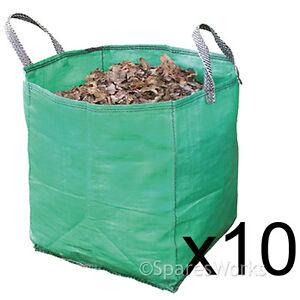 GéNéReuse 10 Grand Jardin Recyclage Des Déchets Astuce Sacs Lourds Non Tear Tissé Plastique Sac-afficher Le Titre D'origine Jolie Et ColoréE