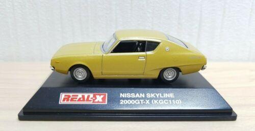 1//72 Real-X NISSAN SKYLINE 2000GT-X GOLD KGC110 KENMERI diecast car model