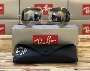 0c8339eb2b Image is loading Ray-Ban-Aviator-Sunglasses-RB3025-W3277-58mm-Silver-