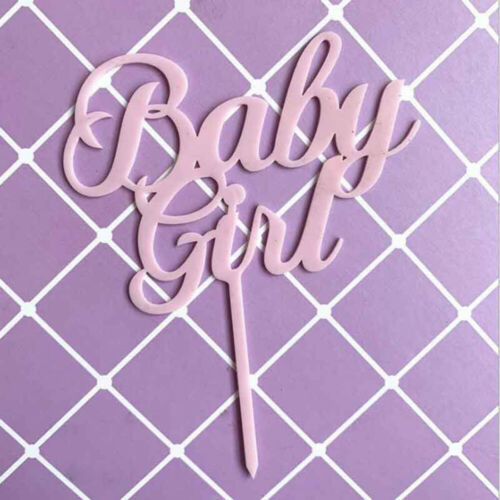 Baby Boy Girl Cake Toppers Flags Kids Happy Birthday Cupcake Topper Party Decor