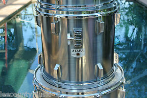 1980-039-s-TAMA-ROCKSTAR-13-034-RACK-TOM-in-MISTY-CHROME-for-YOUR-DRUM-SET-LOT-S47