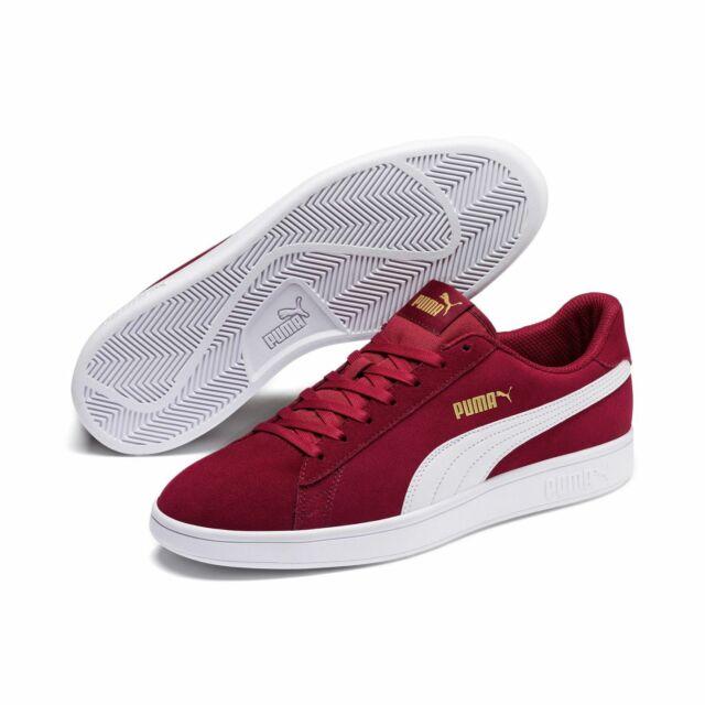 Puma Smash v2 Unisex Erwachsenen Sneaker Turnschuhe Retro Look 364989 Rot
