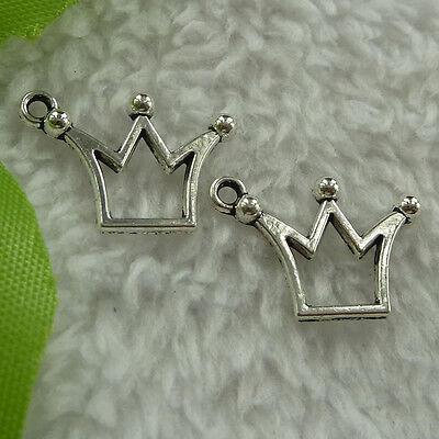 free ship 120 pieces tibetan silver crown charms 20x14mm #2820