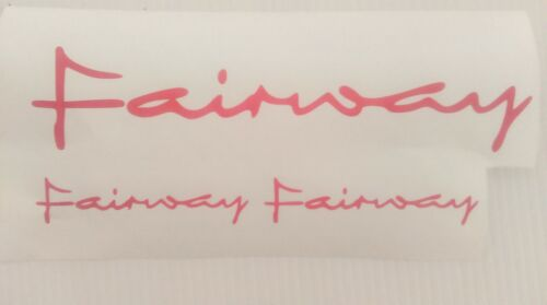 FAIRWAY TAXI  STICKERS//DECAL