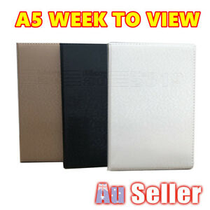 A5 2019 Diary PU Leather Week To View Appointment Planer Personal Organiser