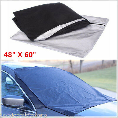 Windshield Window Snow Ice Frost /& Sun Shade Protector Tarp Flap Cover Magnetic