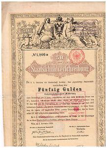 Staatsschuldverschreibung-Osterreich-Wien-1868-50-Gulden