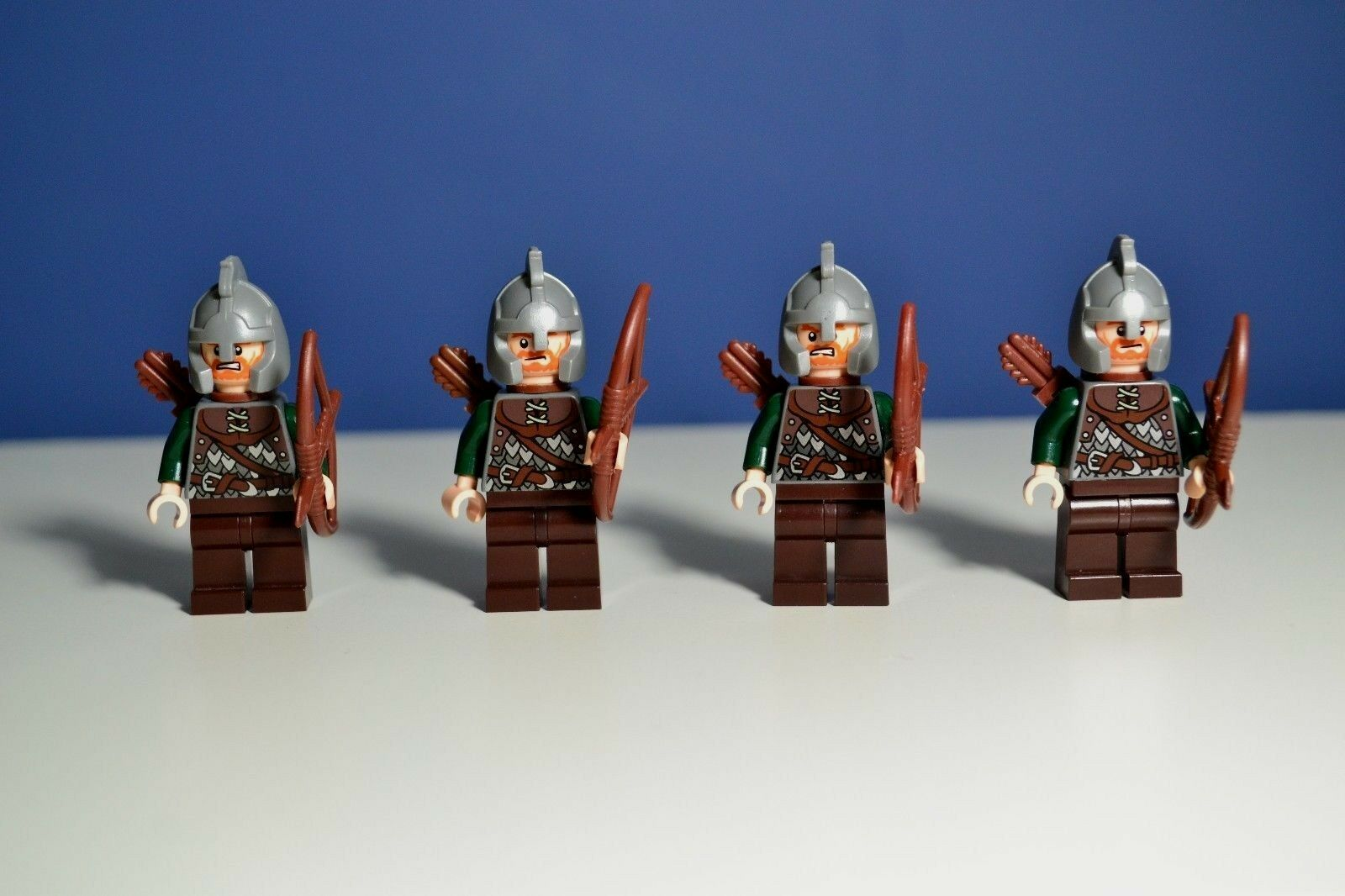 Lego Lord of the Rings ROHAN SOLDIER MINIFIGURE (9471) Lot Of 4 Authentic
